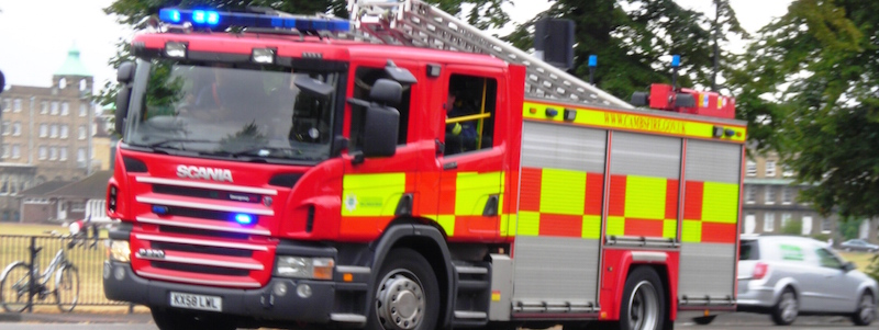 Fire engine - fire response thanks to CCTV
