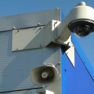 CCTV camera - blue sky