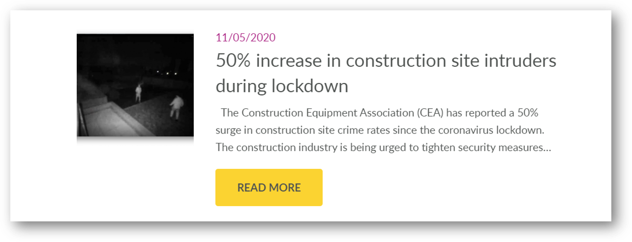 security on building sites