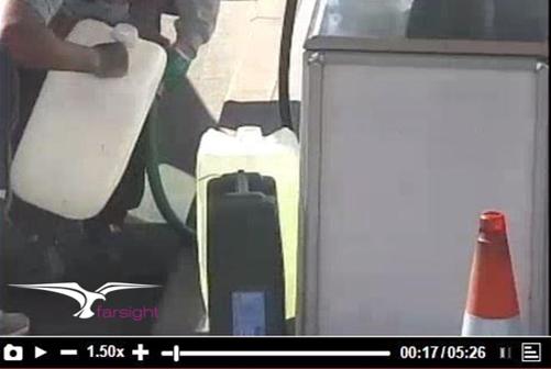 CCTV remote monitoring petrol station