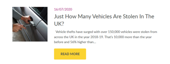 How many vehicles are stolen in the uk?