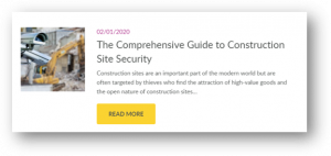 guide to construction site security