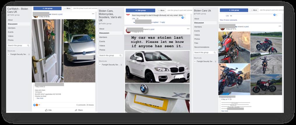 stolen cars facebook