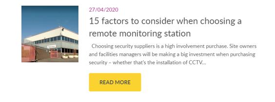 Choosing a remote CCTV monitoring partner