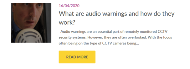 What are CCTV audio warning announcements? - Farsight