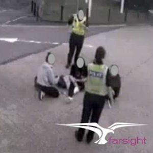 Anti social behaviour on CCTV