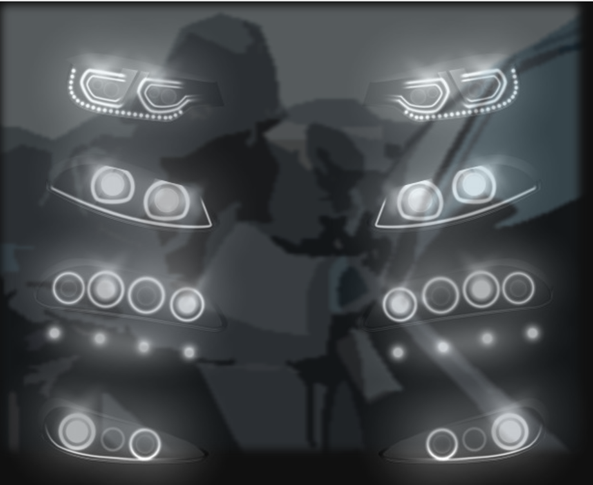 car headlight thefts