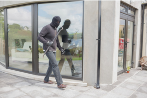 footballers home burgled