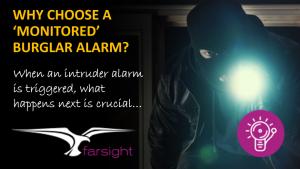Monitored burglar alarm